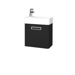 Dreja - Kúpeľňová skriňa DOOR SZD 44 - L03 Antracit vysoký lesk / Úchytka T39 / L03 Antracit vysoký lesk / Levé (151652G)