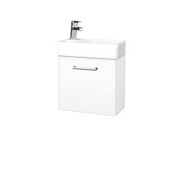 Dreja - Kúpeľňová skriňa DOOR SZD 44 - N01 Bílá lesk / Úchytka T03 / L01 Bílá vysoký lesk / Levé (21903C)