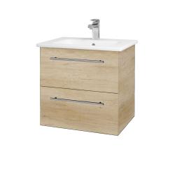 Dreja - Kúpeľňová skriňa GIO SZZ2 60 - D15 Nebraska / Úchytka T02 / D15 Nebraska (173722B)