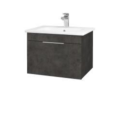 Dreja - Kúpeľňová skriňa ASTON SZZ 60 - D16  Beton tmavý / Úchytka T05 / D16 Beton tmavý (199135F)