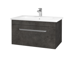 Dreja - Kúpeľňová skriňa ASTON SZZ 80 - D16  Beton tmavý / Úchytka T01 / D16 Beton tmavý (199296A)