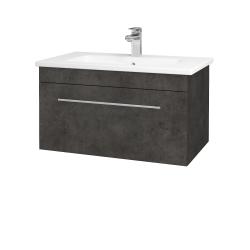 Dreja - Kúpeľňová skriňa ASTON SZZ 80 - D16  Beton tmavý / Úchytka T02 / D16 Beton tmavý (199296B)
