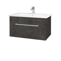 Dreja - Kúpeľňová skriňa ASTON SZZ 80 - D16  Beton tmavý / Úchytka T03 / D16 Beton tmavý (199296C)