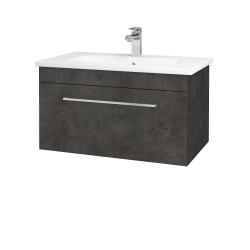 Dreja - Kúpeľňová skriňa ASTON SZZ 80 - D16  Beton tmavý / Úchytka T04 / D16 Beton tmavý (199296E)