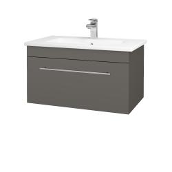 Dreja - Kúpeľňová skriňa ASTON SZZ 80 - N06 Lava / Úchytka T02 / N06 Lava (199425B)