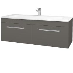 Dreja - Kúpeľňová skriňa ASTON SZZ2 120 - N06 Lava / Úchytka T03 / N06 Lava (200350C)