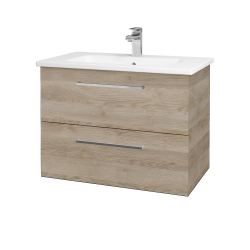 Dreja - Kúpeľňová skriňa GIO SZZ2 80 - D17 Colorado / Úchytka T04 / D17 Colorado (202156E)