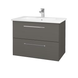 Dreja - Kúpeľňová skriňa GIO SZZ2 80 - N06 Lava / Úchytka T04 / N06 Lava (202279E)
