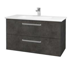 Dreja - Kúpeľňová skriňa GIO SZZ2 100 - D16  Beton tmavý / Úchytka T01 / D16 Beton tmavý (202750A)