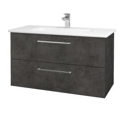 Dreja - Kúpeľňová skriňa GIO SZZ2 100 - D16  Beton tmavý / Úchytka T04 / D16 Beton tmavý (202750E)