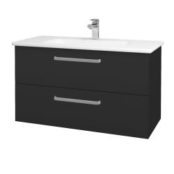 Dreja - Kúpeľňová skriňa GIO SZZ2 100 - N03 Graphite / Úchytka T01 / N03 Graphite (202873A)