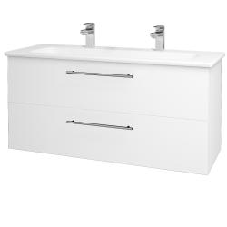 Dreja - Kúpeľňová skriňa GIO SZZ2 120 - M01 Bílá mat / Úchytka T02 / M01 Bílá mat (202934BU)
