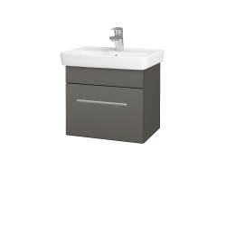 Dreja - Kúpeľňová skriňa SOLO SZZ 50 - N06 Lava / Úchytka T02 / N06 Lava (205416B)
