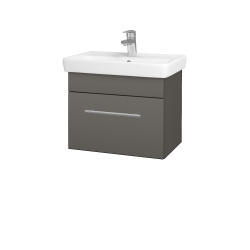Dreja - Kúpeľňová skriňa SOLO SZZ 55 - N06 Lava / Úchytka T02 / N06 Lava (205614B)