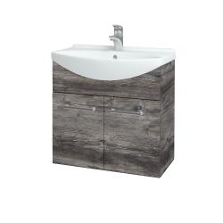 Dreja - Kúpeľňová skriňa TAKE IT SZD2 65 - D10 Borovice Jackson / Úchytka T03 / D10 Borovice Jackson (205843C)