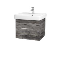 Dreja - Kúpeľňová skriňa Q UNO SZZ 55 - D10 Borovice Jackson / Úchytka T04 / D10 Borovice Jackson (208240E)