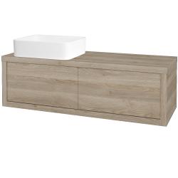 Dreja - Kúpeľňová skriňa STORM SZZ2 120 (umývadlo Joy) - D17 Colorado / D17 Colorado / Pravé (214142P)