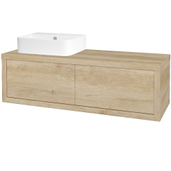 Dreja - Kúpeľňová skriňa STORM SZZ2 120 (umývadlo JOY 3) - D15 Nebraska / D15 Nebraska / Pravé (218805P)