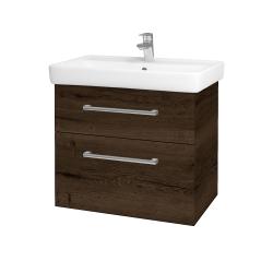Dreja - Kúpeľňová skriňa Q MAX SZZ2 70 - D21 TOBACCO / Úchytka T03 / D21 Tobacco (275662C)