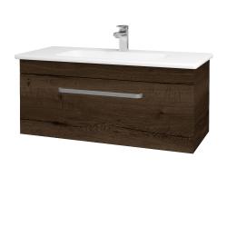 Dreja - Kúpeľňová skriňa ASTON SZZ 100 - D21 TOBACCO / Úchytka T01 / D21 Tobacco (276751A)