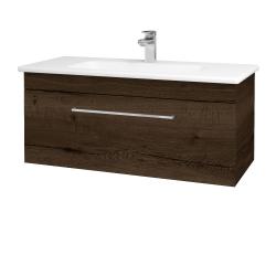 Dreja - Kúpeľňová skriňa ASTON SZZ 100 - D21 TOBACCO / Úchytka T04 / D21 Tobacco (276751E)