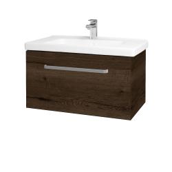 Dreja - Kúpeľňová skriňa BIG INN SZZ 80 - D21 TOBACCO / Úchytka T01 / D21 Tobacco (276997A)