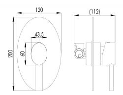 NOVASERVIS - Sprchová batéria podomietková OVAL chróm (32050,0), fotografie 4/2
