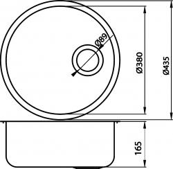 NOVASERVIS - Drez guľatý pr.43 s prepadom nerez (DR43), fotografie 4/2