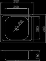 NOVASERVIS - Drez 40x50 s prepadom nerez (DR40/50A), fotografie 4/2