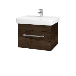 Dreja - Kúpeľňová skriňa Q UNO SZZ 60 - D21 TOBACCO / Úchytka T03 / D21 Tobacco (279691C)