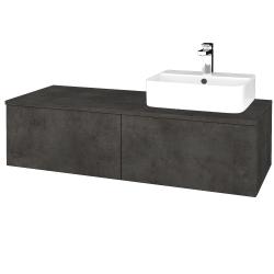Dreja - Kúpeľňová skrinka MODULE SZZ12 120 - D16  Beton tmavý / D16 Beton tmavý / Pravé (301262P)