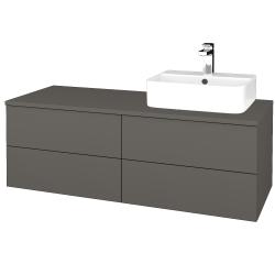 Dreja - Kúpeľňová skrinka MODULE SZZ4 120 - N06 Lava / N06 Lava / Levé (301811)