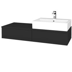 Dreja - Kúpeľňová skrinka MODULE SZZ2 120 - N03 Graphite / N03 Graphite / Pravé (314484P)