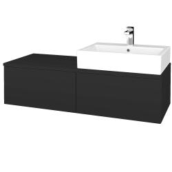 Dreja - Kúpeľňová skrinka MODULE SZZ12 120 - N03 Graphite / N03 Graphite / Pravé (315429P)
