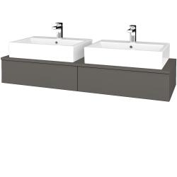 Dreja - Kúpeľňová skrinka MODULE SZZ2 140 - N06 Lava / N06 Lava (316846)