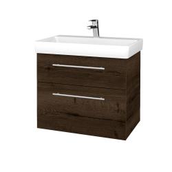 Dreja - Kúpeľňová skrinka PROJECT SZZ2 70 - D21 TOBACCO / Úchytka T02 / D21 Tobacco (323288B)