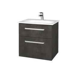 Dreja - Kúpeľňová skrinka PROJECT SZZ2 60 - D16  Beton tmavý / Úchytka T01 / D16 Beton tmavý (328290A)