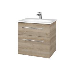 Dreja - Kúpeľňová skrinka PROJECT SZZ2 60 - D17 Colorado / Úchytka T02 / D17 Colorado (328306B)
