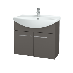 Dreja - Kúpeľňová skriňa TAKE IT SZD2 75 - N06 Lava / Úchytka T02 / N06 Lava (206130B)