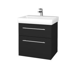 Dreja - Kúpeľňová skrinka PROJECT SZZ2 60 - L03 Antracit vysoký lesk / Úchytka T02 / L03 Antracit vysoký lesk (322533B)