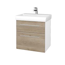 Dreja - Kúpeľňová skrinka PROJECT SZZ2 60 - N01 Bílá lesk / Úchytka T02 / D17 Colorado (322694B)