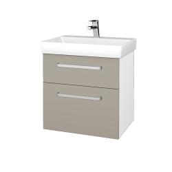 Dreja - Kúpeľňová skrinka PROJECT SZZ2 60 - N01 Bílá lesk / Úchytka T01 / L04 Béžová vysoký lesk (322748A)