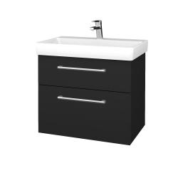 Dreja - Kúpeľňová skrinka PROJECT SZZ2 70 - L03 Antracit vysoký lesk / Úchytka T03 / L03 Antracit vysoký lesk (322991C)