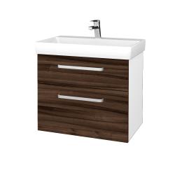 Dreja - Kúpeľňová skrinka PROJECT SZZ2 70 - N01 Bílá lesk / Úchytka T01 / D06 Ořech (323097A)