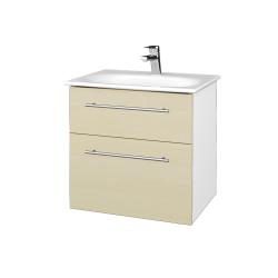 Dreja - Kúpeľňová skrinka PROJECT SZZ2 60 - N01 Bílá lesk / Úchytka T02 / D02 Bříza (328405B)