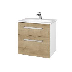 Dreja - Kúpeľňová skrinka PROJECT SZZ2 60 - N01 Bílá lesk / Úchytka T01 / D09 Arlington (328467A)