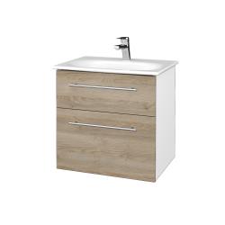 Dreja - Kúpeľňová skrinka PROJECT SZZ2 60 - N01 Bílá lesk / Úchytka T02 / D17 Colorado (328504B)