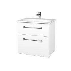 Dreja - Kúpeľňová skrinka PROJECT SZZ2 60 - N01 Bílá lesk / Úchytka T03 / M01 Bílá mat (328511C)