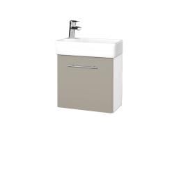 Dreja - Kúpeľňová skriňa DOOR SZD 44 - N01 Bílá lesk / Úchytka T02 / L04 Béžová vysoký lesk / Pravé (122775BP)
