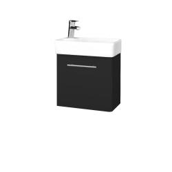 Dreja - Kúpeľňová skriňa DOOR SZD 44 - L03 Antracit vysoký lesk / Úchytka T02 / L03 Antracit vysoký lesk / Levé (151652B)